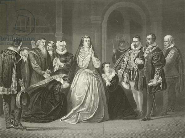 Last moments of Mary, Queen of Scots, 1587 (engraving)