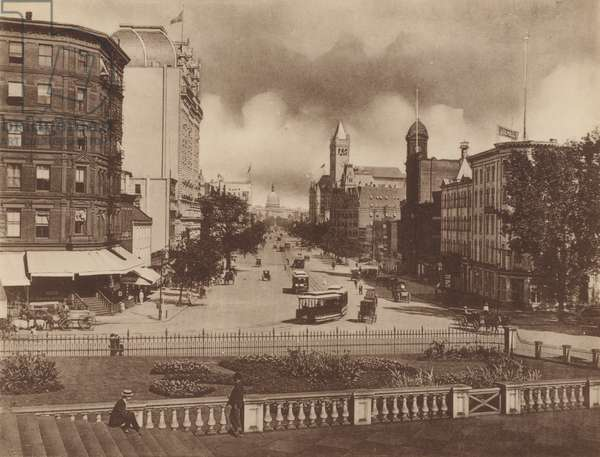 Pennsylvania Avenue, from the Treasury (b/w photo)