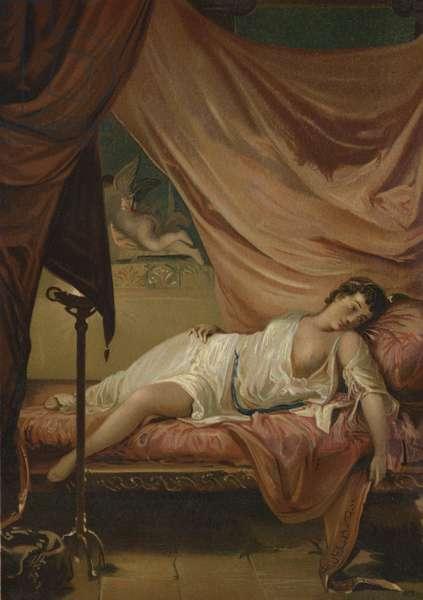 Eros and Psyche (chromolitho)