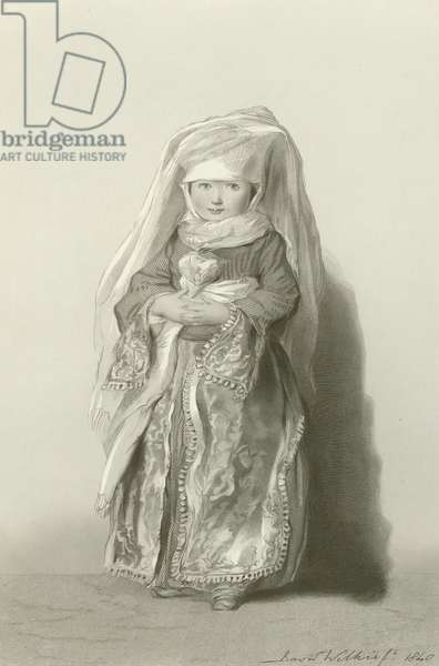 The Daughter of Admiral Walker (engraving)