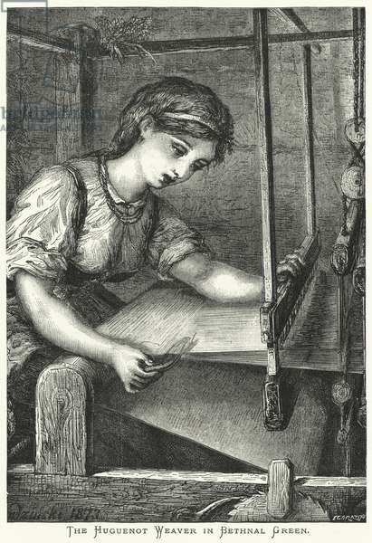 The Huguenot Weaver in Bethnal Green (engraving)
