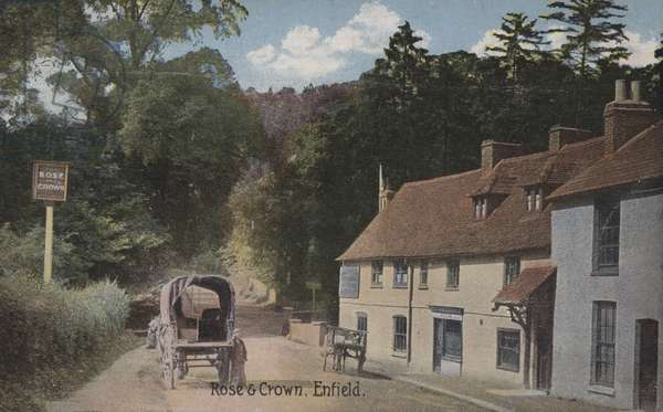 Rose and Crown, Enfield (coloured photo)