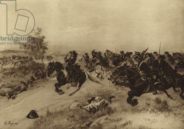 Battle of Blenheim, 1704 (gravure)