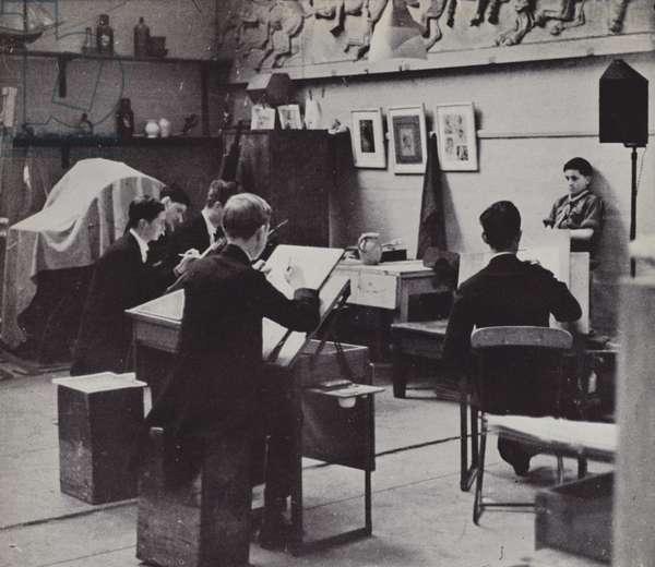 Drawing School, Eton (b/w photo)