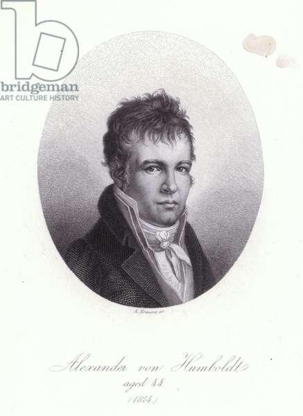 Alexander von Humboldt, German geographer, naturalist and explorer (engraving)