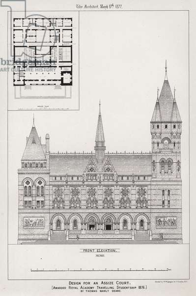 Design for an Assize Court (engraving)