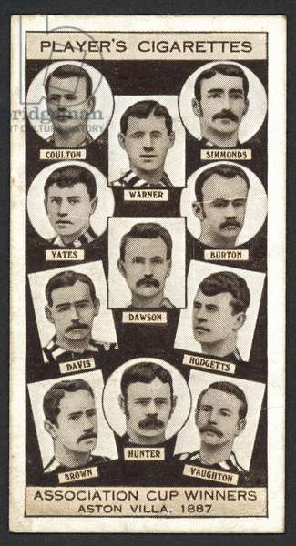 Association Cup Winners, Aston Villa, 1887 (litho)