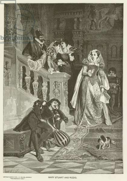 Mary Stuart and Rizzio (engraving)