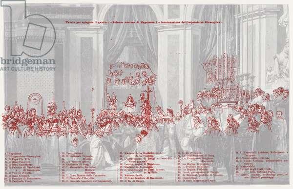 The Coronation of Napoleon as Emperor of France in Notre Dame de Paris, 1804 (colour litho)