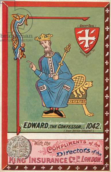 Edward The Confessor (colour litho)