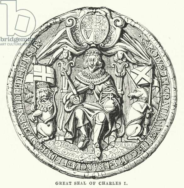 Great seal of Charles I (engraving)