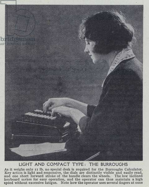 Light and compact type, The Burroughs (b/w photo)