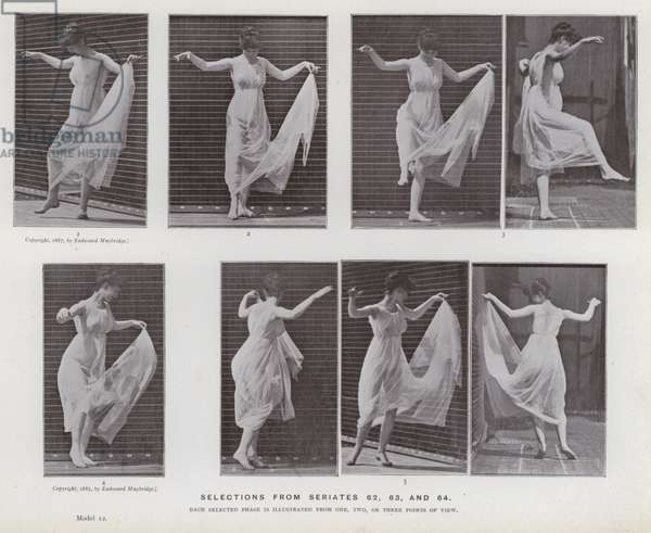 The Human Figure in Motion: Selections from seriates 62, 63, and 64 (b/w photo)