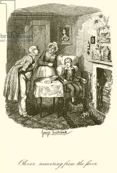 Oliver recovering from the Fever (engraving)