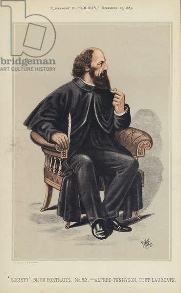 Alfred Tennyson, Poet Laureate (colour litho)