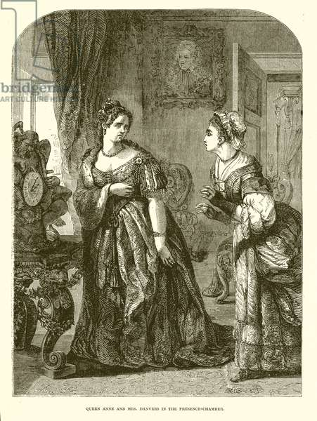 Queen Anne and Mrs. Danvers in the Presence-Chamber (engraving)