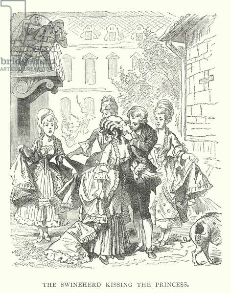 The Swineherd kissing the Princess (engraving)