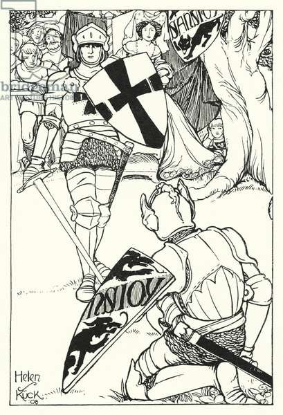Red Cross defeats Sans Joy (engraving)