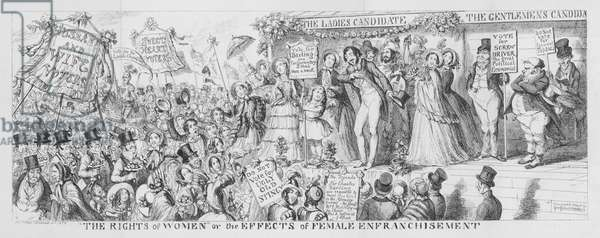 """""""The Rights of Women"""" or the Effects of Female Enfranchisement, 1853 (engraving)"""