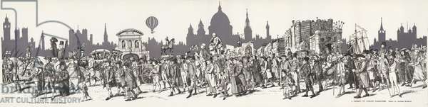 A Pageant of London Characters by George Morrow (engraving)