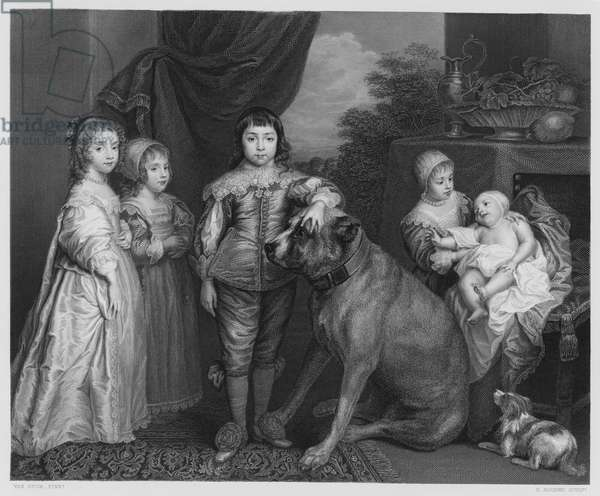 The Family of Charles 1, from the picture in the Royal Collection (engraving)