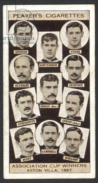 Association Cup Winners, Aston Villa, 1897 (litho)