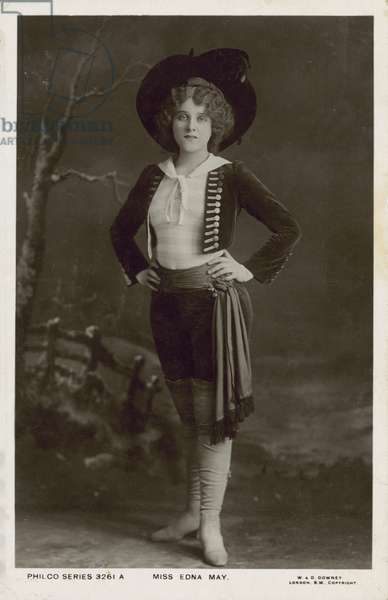 Edna May, American actress and singer of Edwardian musical comedy (b/w photo)
