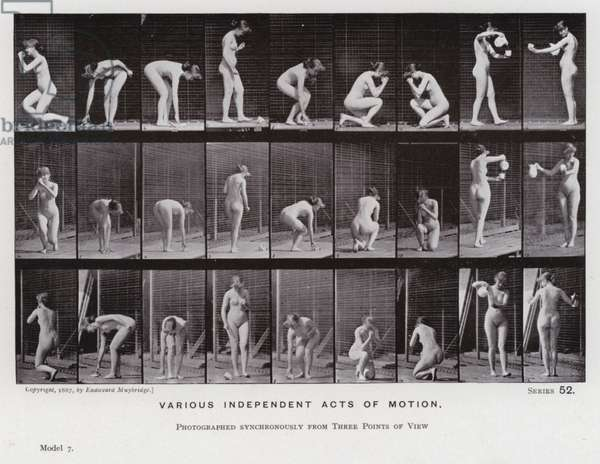 The Human Figure in Motion: Various independent acts of motion (b/w photo)