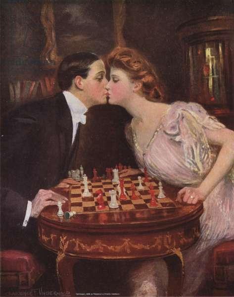 The Kiss (colour litho)