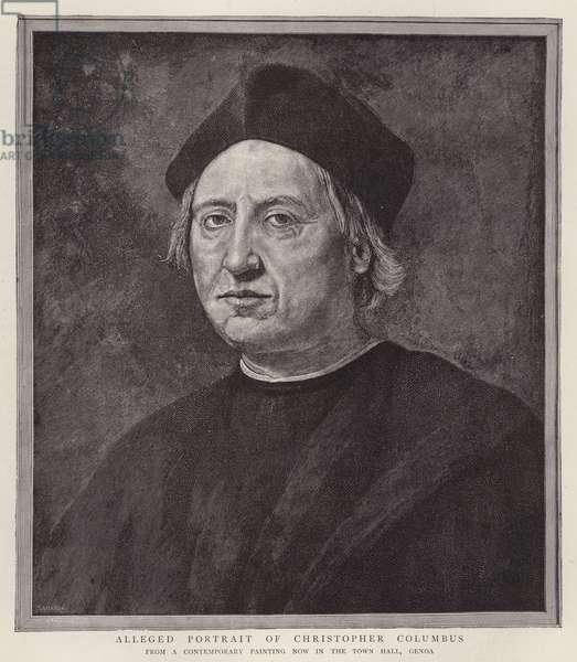 Christopher Columbus, Genoese navigator (litho)