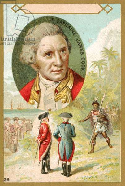 Captain James Cook, English explorer (chromolitho)