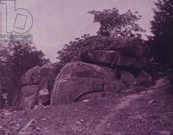 The Devil's Den, battle-field of Gettysburg (b/w photo)