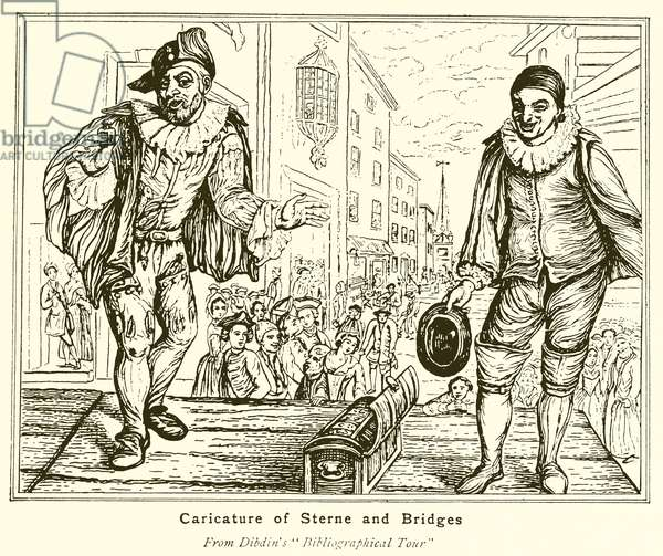 Caricature of Sterne and Bridges (engraving)