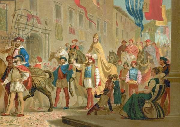 Festivities for the coronation of Leo X