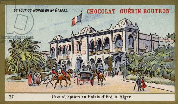 A reception at the Summer Palace, Algiers (chromolitho)