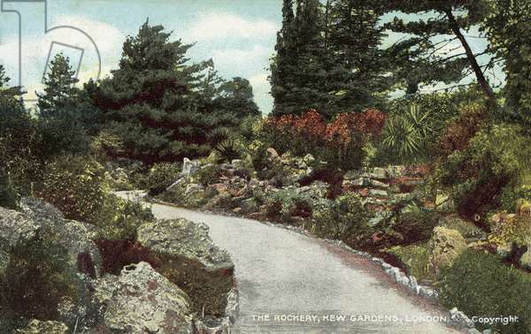 The Rockery, Kew Gardens, London (colour photo)