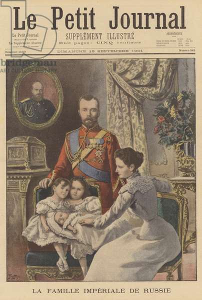 The Russian Imperial Family (colour litho)