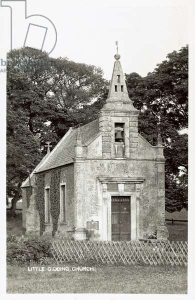 Little Gidding Church (b/w photo)