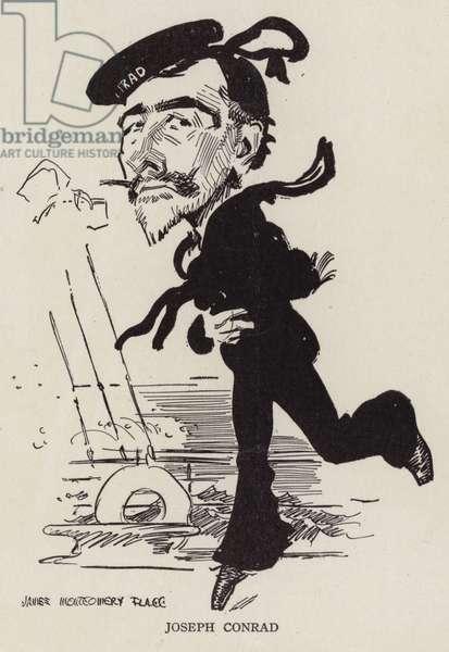 Joseph Conrad, Polish-British writer and novelist (litho)