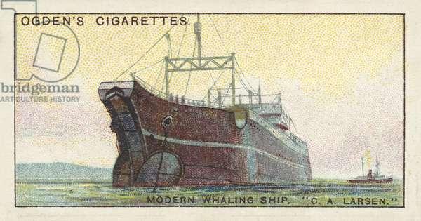 Whaling, Modern Whaling Ship, C A Larsen (chromolitho)