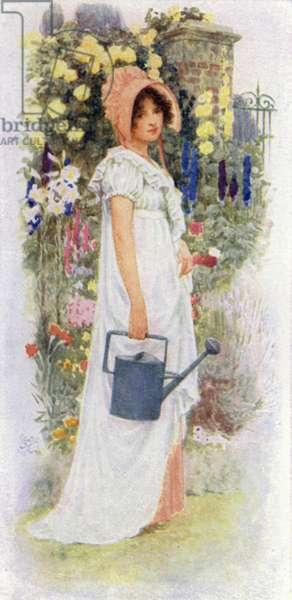 Tennyson Poem: The Gardener's Daughter (colour litho)