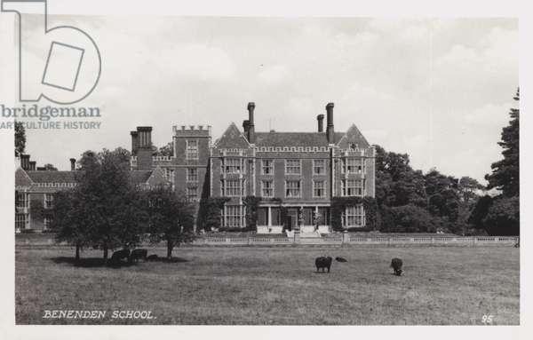 Benenden School (b/w photo)