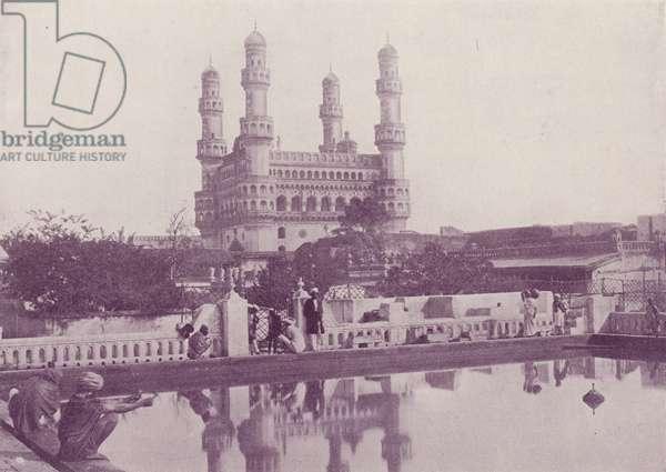 The Char Minar, Hyderabad (b/w photo)