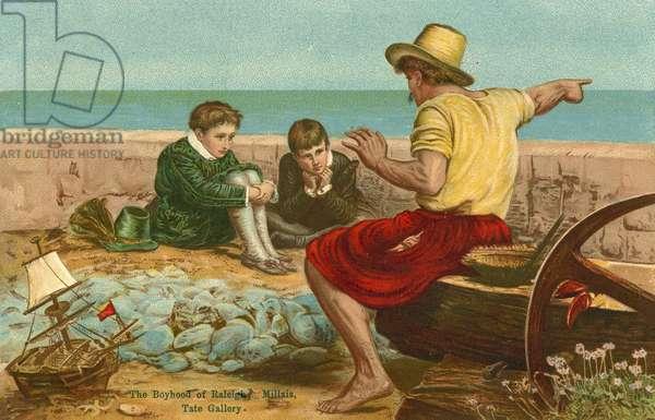 The boyhood of Sir Walter Raleigh (chromolitho)