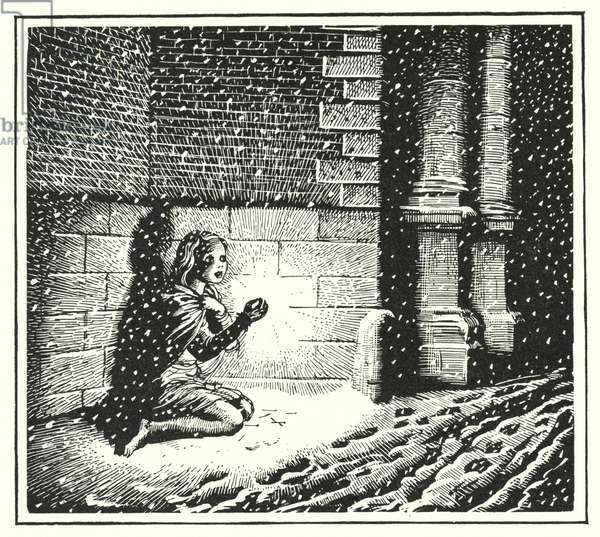 Hans Christian Andersen: The Little Match Girl (litho)
