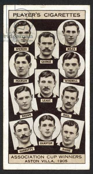 Association Cup Winners, Aston Villa, 1905 (litho)
