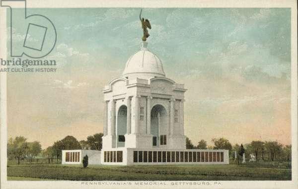 Pennsylvania Memorial, Gettysburg, Pennsylvania, USA (colour photo)