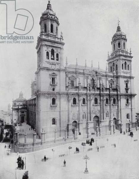 The Cathedral, Jaen (b/w photo)