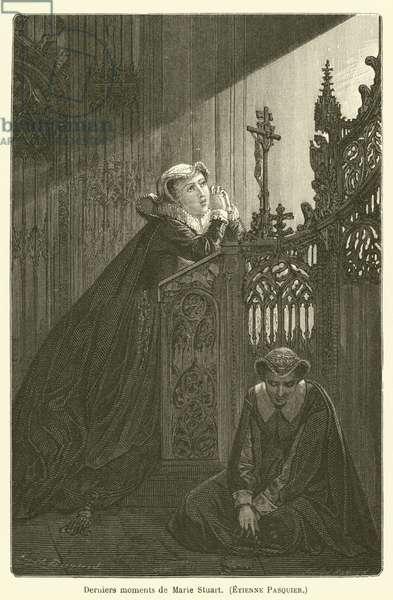 Derniers moments de Marie Stuart, Etienne Pasquier (engraving)