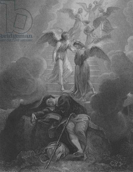 Jacob's Vision, Genesis 28, Verse 10-16 (engraving)